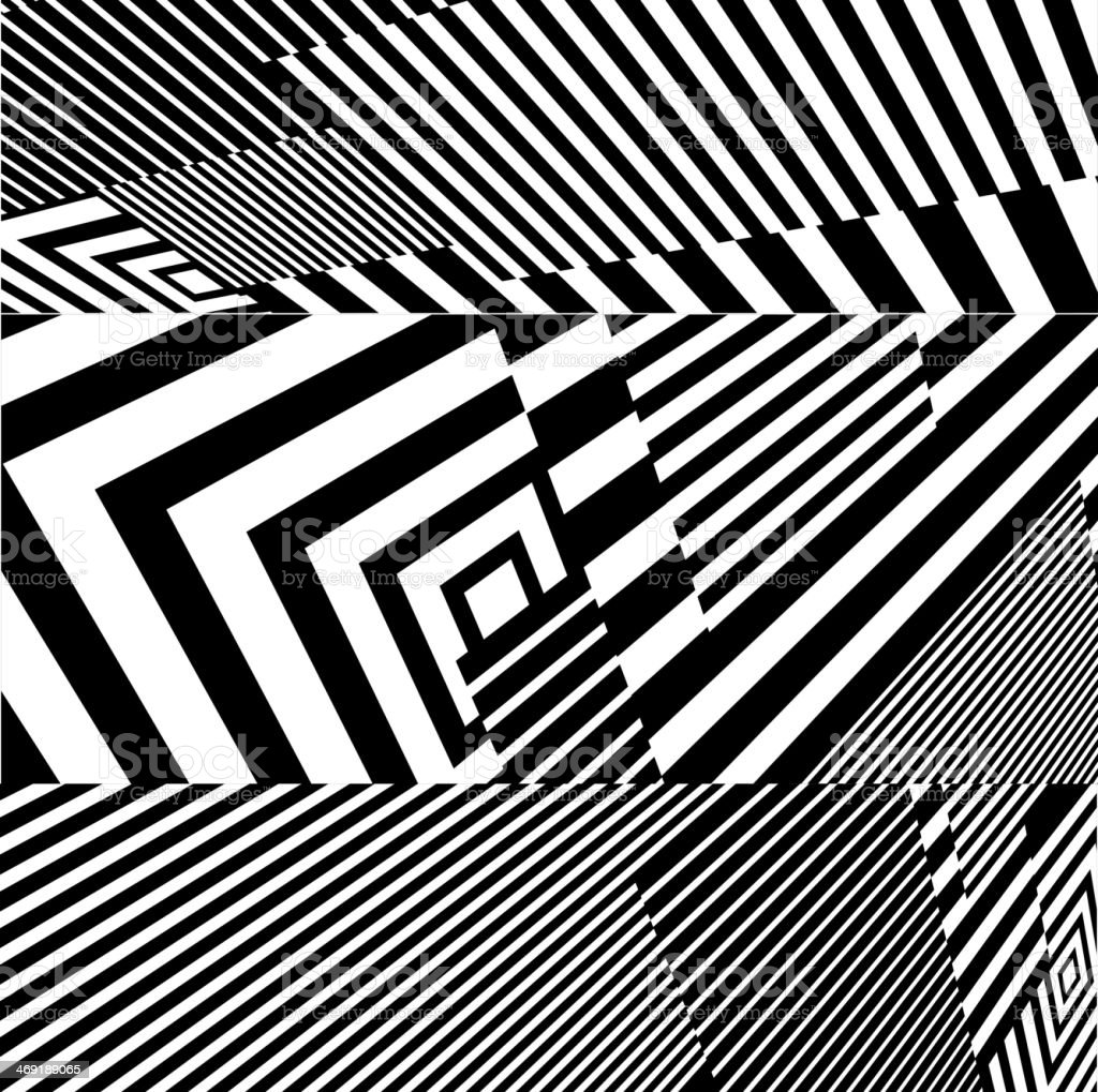 An abstract black and white stripe pattern background vector art illustration