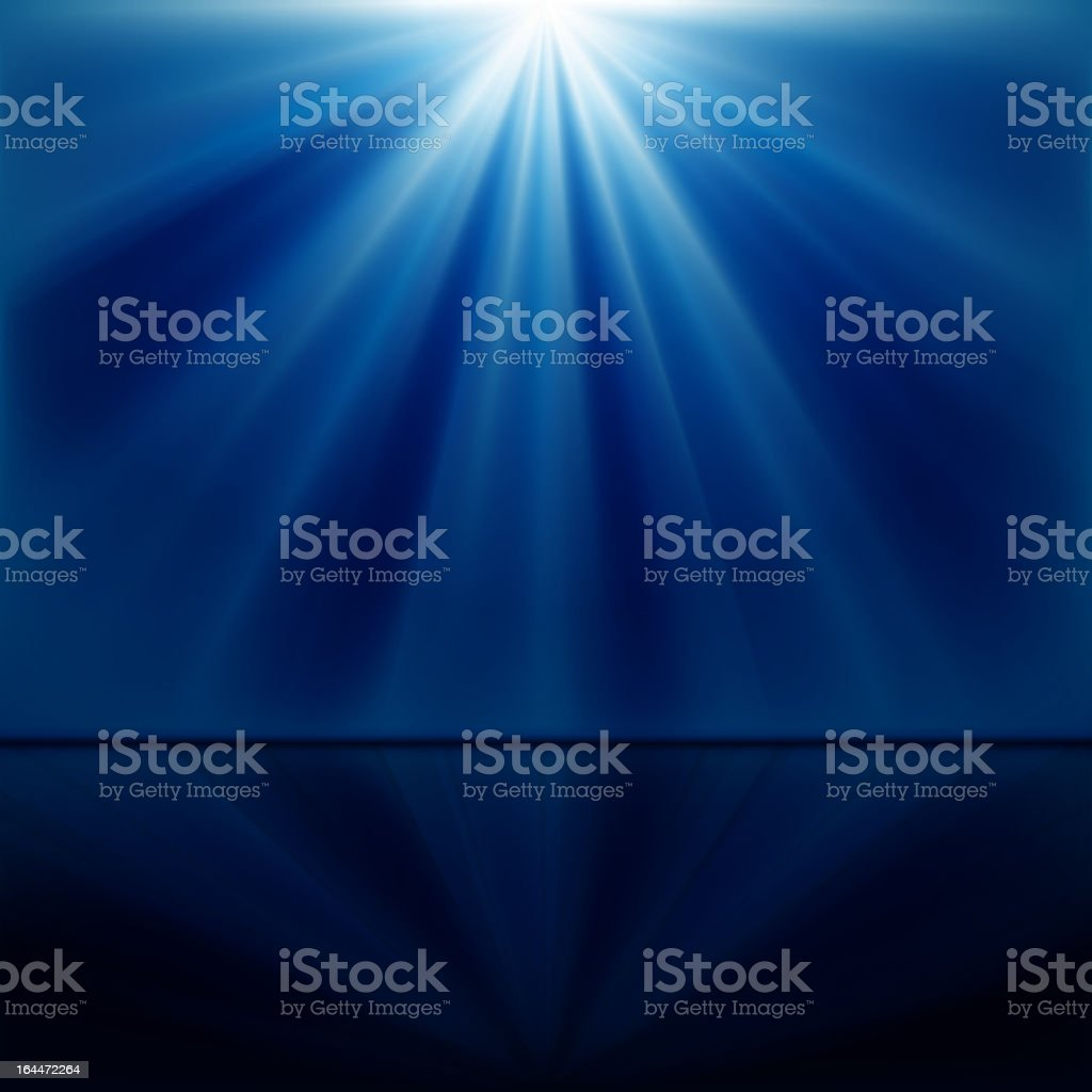 An abstract blue and white background with beams of light vector art illustration