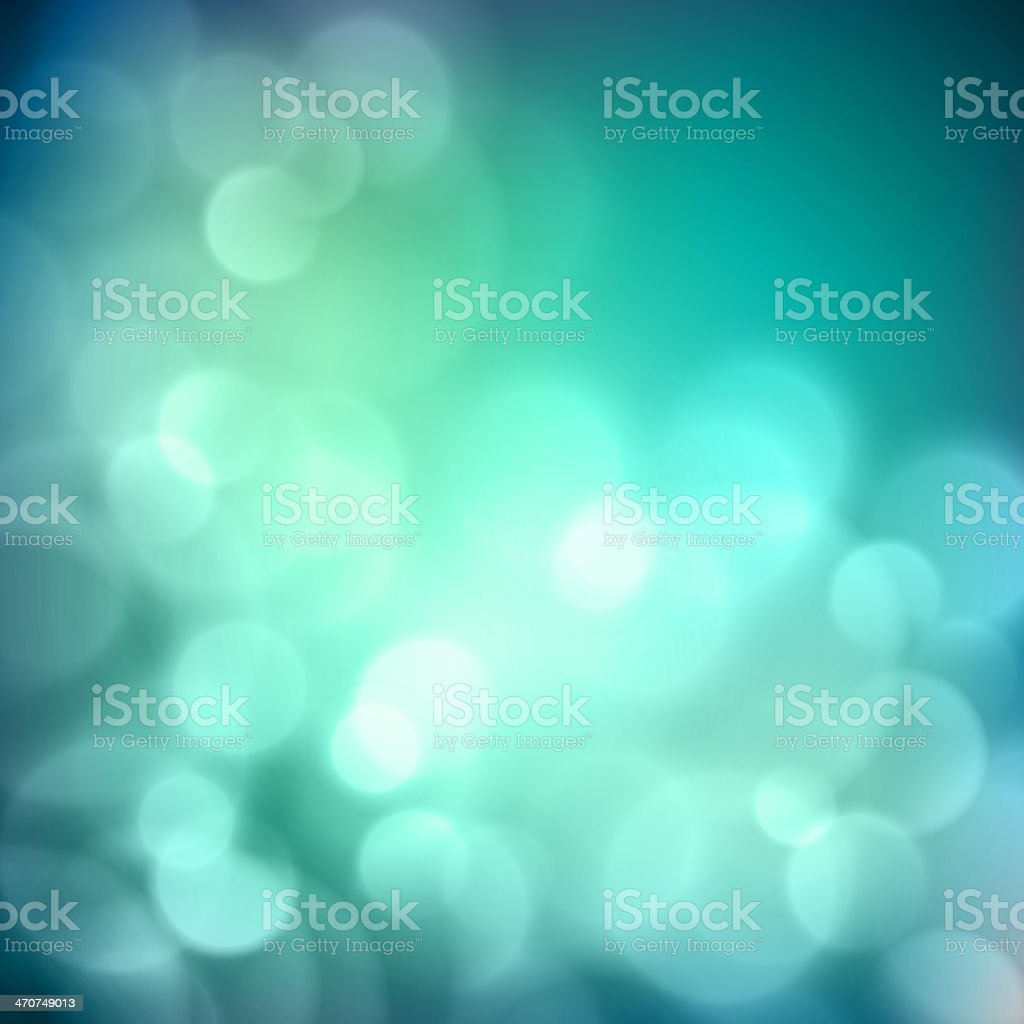An abstract blue background with unfocused light flashes vector art illustration