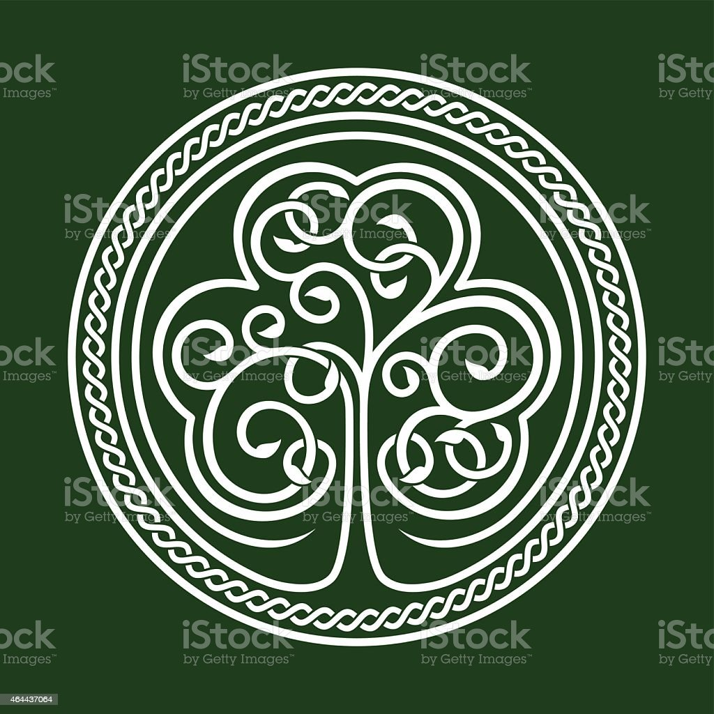 An abstract emblem relating to St. Patrick's Day vector art illustration