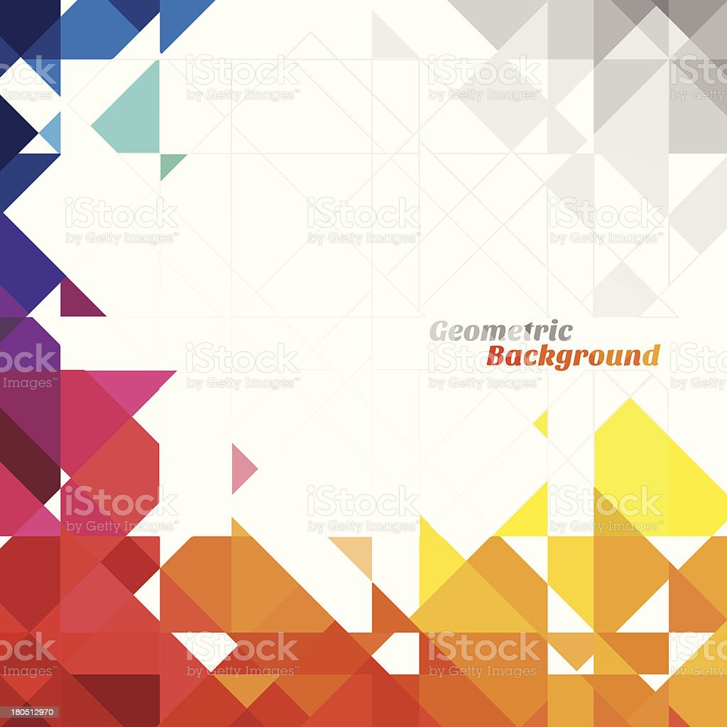 An abstract geometric background royalty-free stock vector art