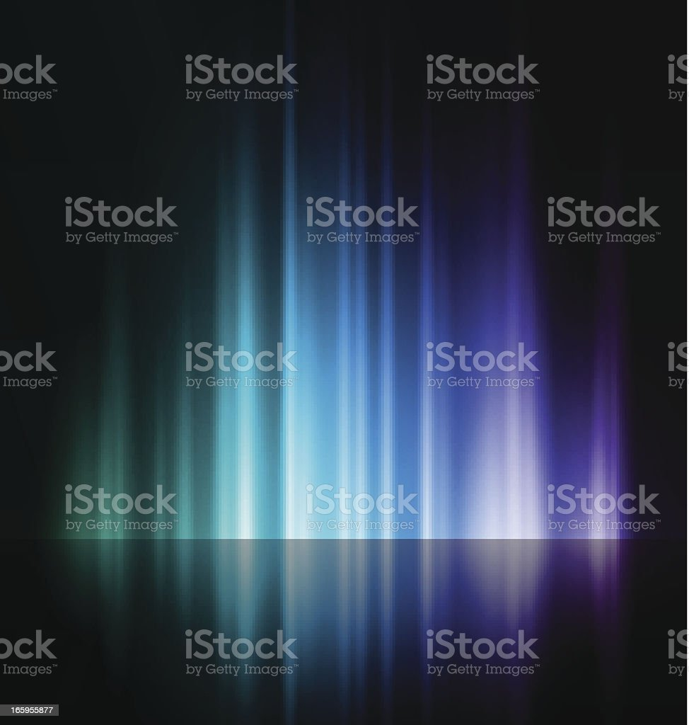 An abstract image of a rising blue and purple light vector art illustration