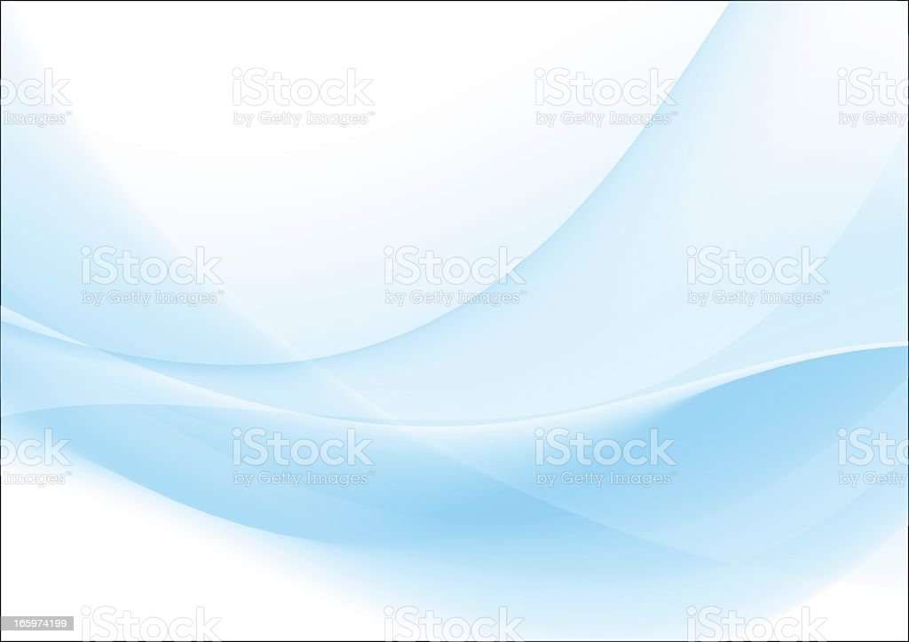 An abstract light blue and white wavy background vector art illustration