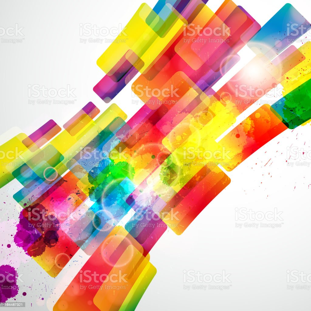 An abstract, multicolored background royalty-free stock vector art