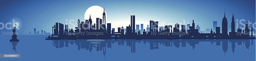 An animated skyline of New York City royalty-free stock vector art