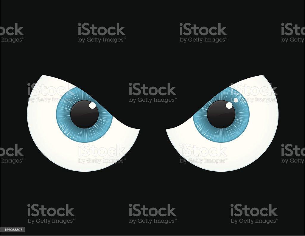 An digital drawing of Spooky eyes royalty-free stock vector art