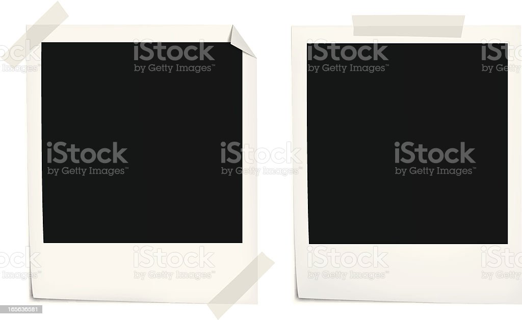 An empty picture film for an instant camera royalty-free stock vector art