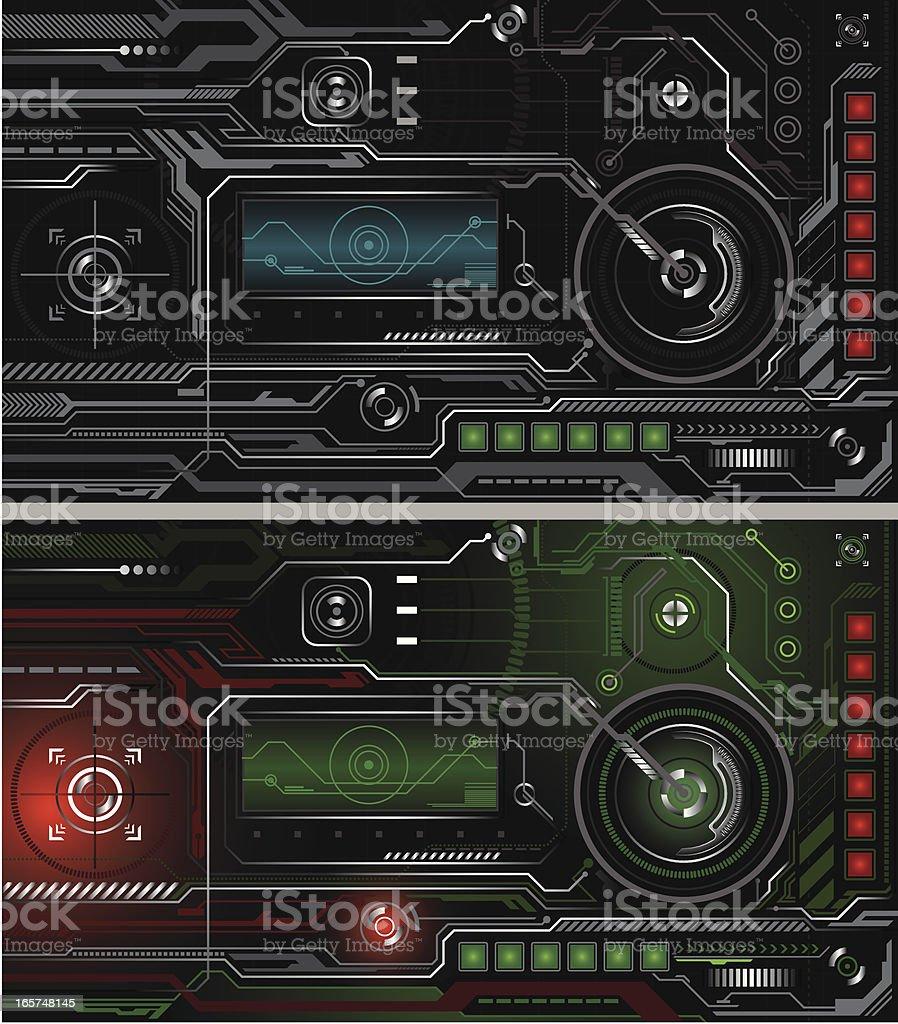 An example of a high tech interface that is modern vector art illustration
