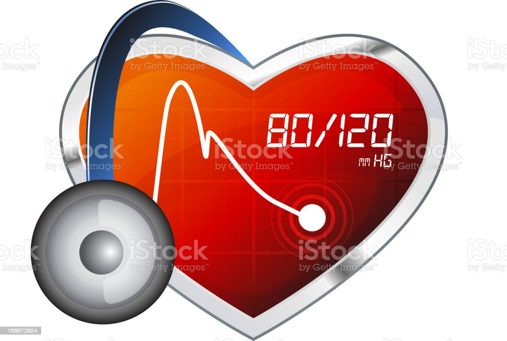 An icon depicting a normal blood pressure range vector art illustration