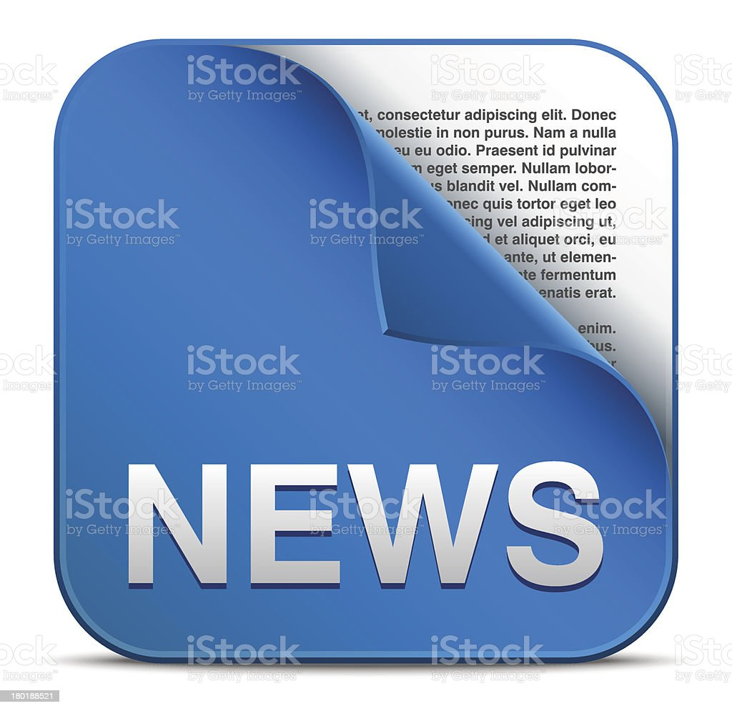 An icon depicting the news will be told royalty-free stock vector art