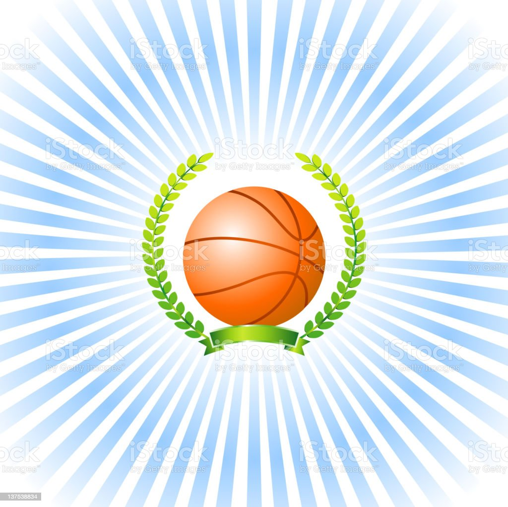 An illustration design of a basketball award royalty-free stock photo