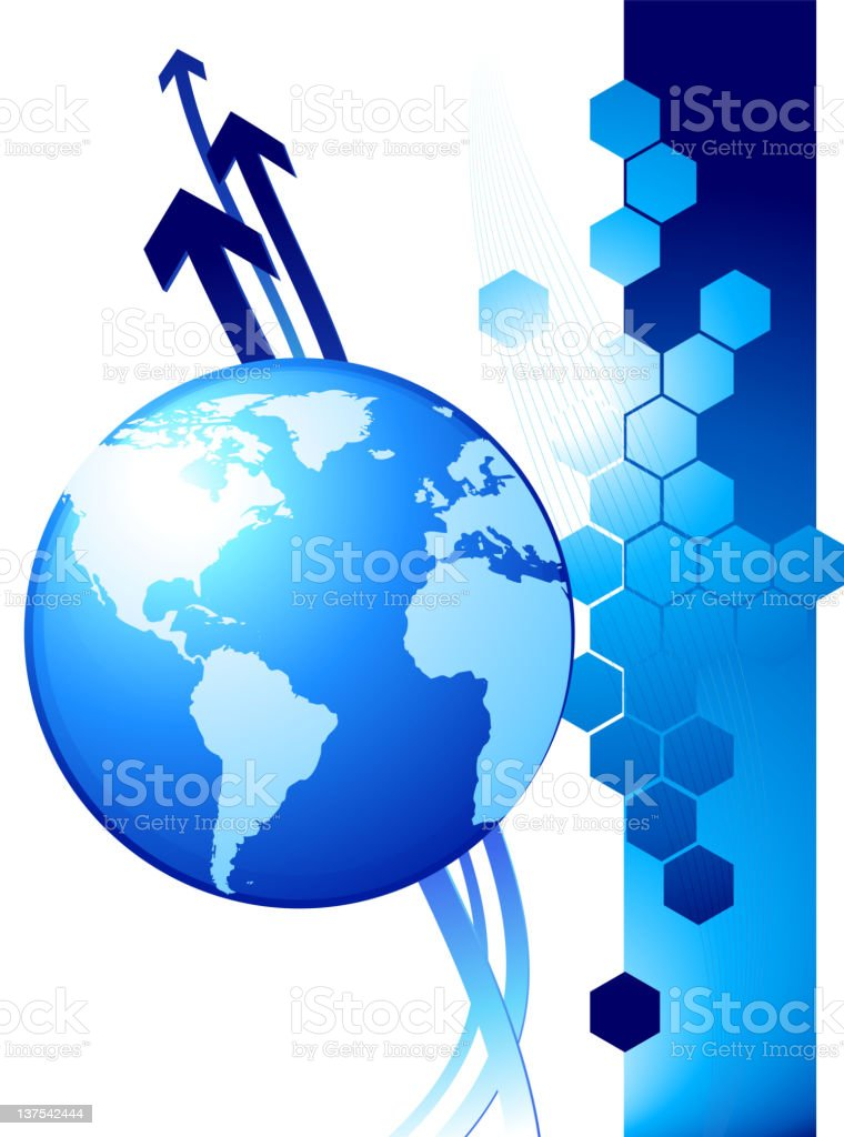 An illustration design of Globe background royalty-free stock vector art