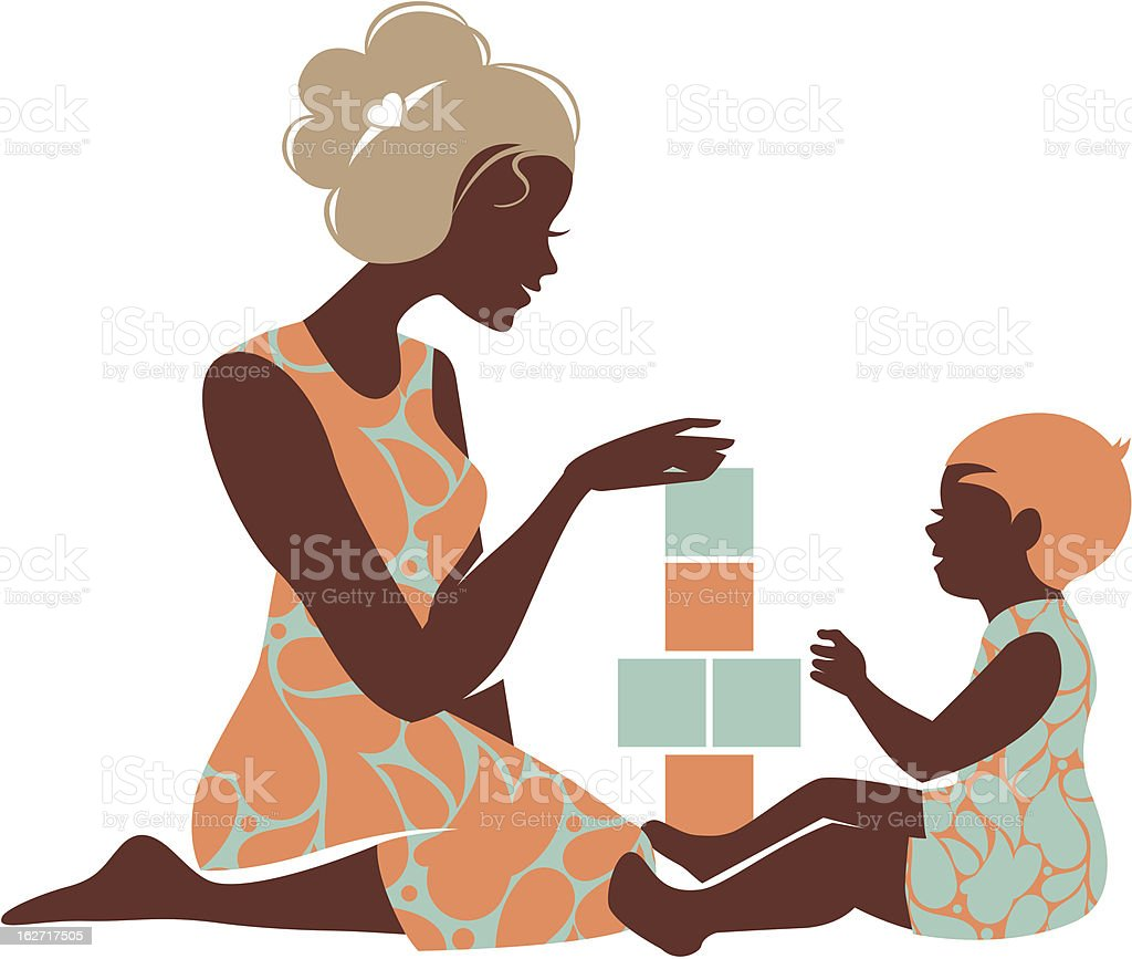 An illustration of a beautifully designed silhouette royalty-free stock vector art