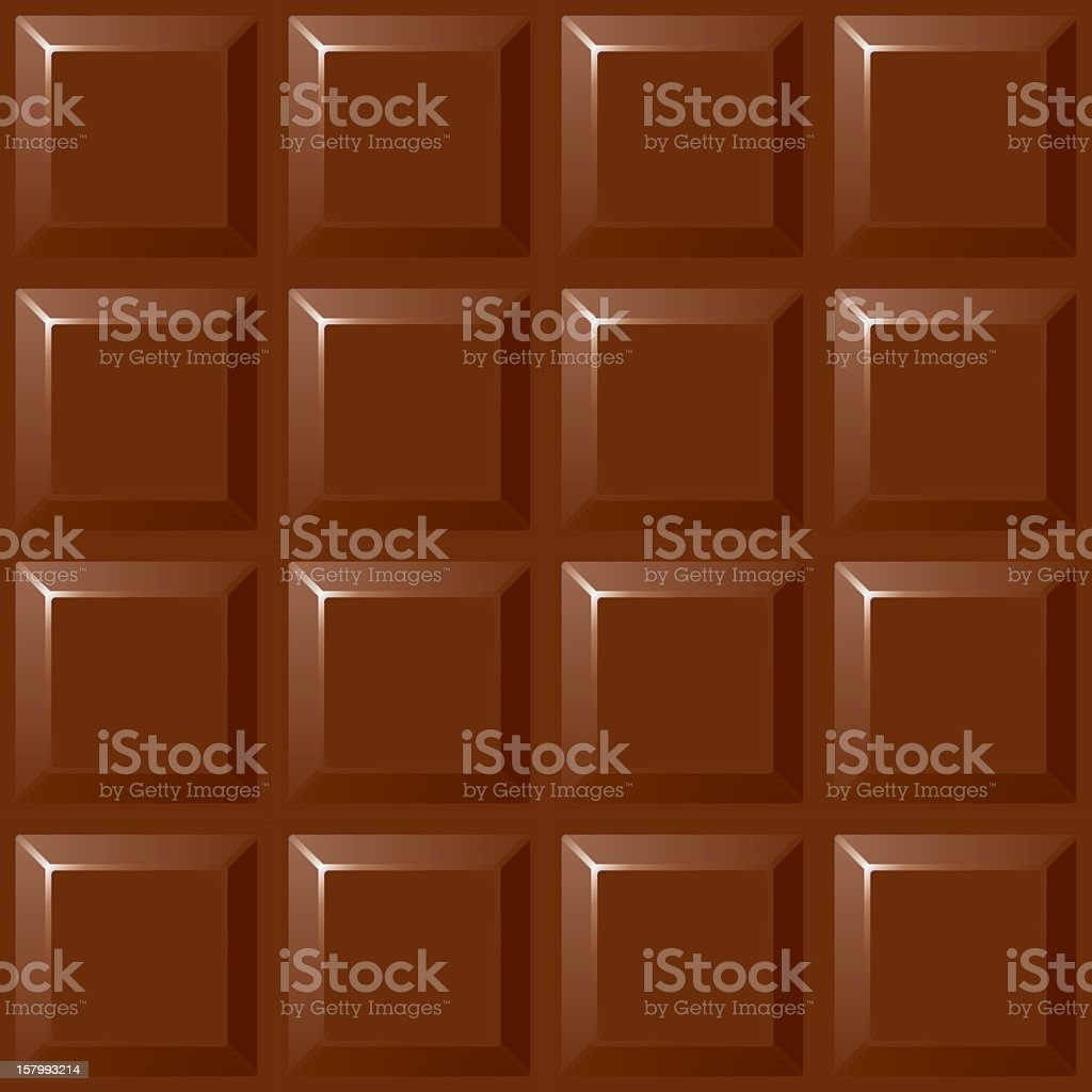 An illustration of a block of chocolate  vector art illustration