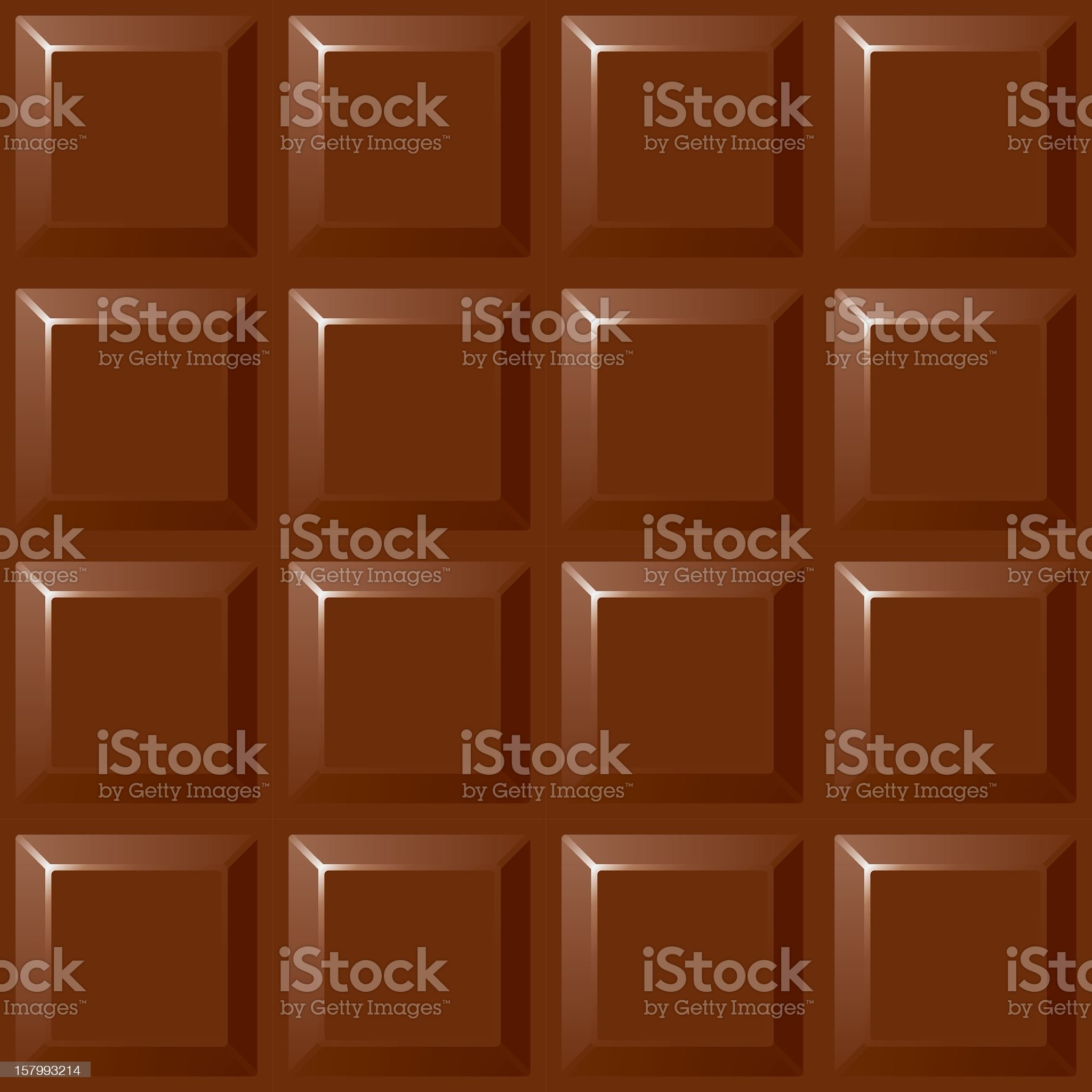 An illustration of a block of chocolate  royalty-free stock vector art