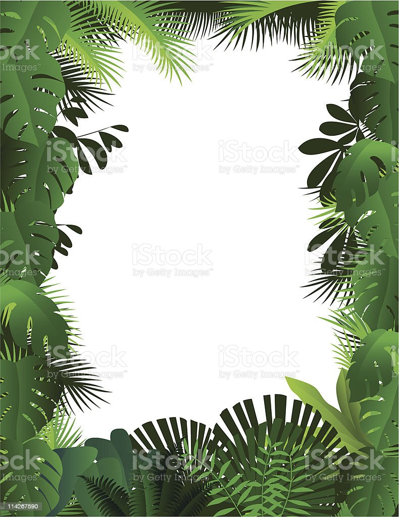 An illustration of a forest on a white background vector art illustration