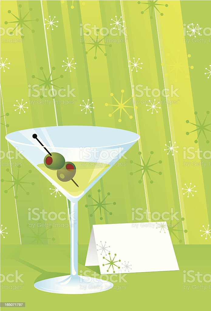 An illustration of a green martini royalty-free stock vector art