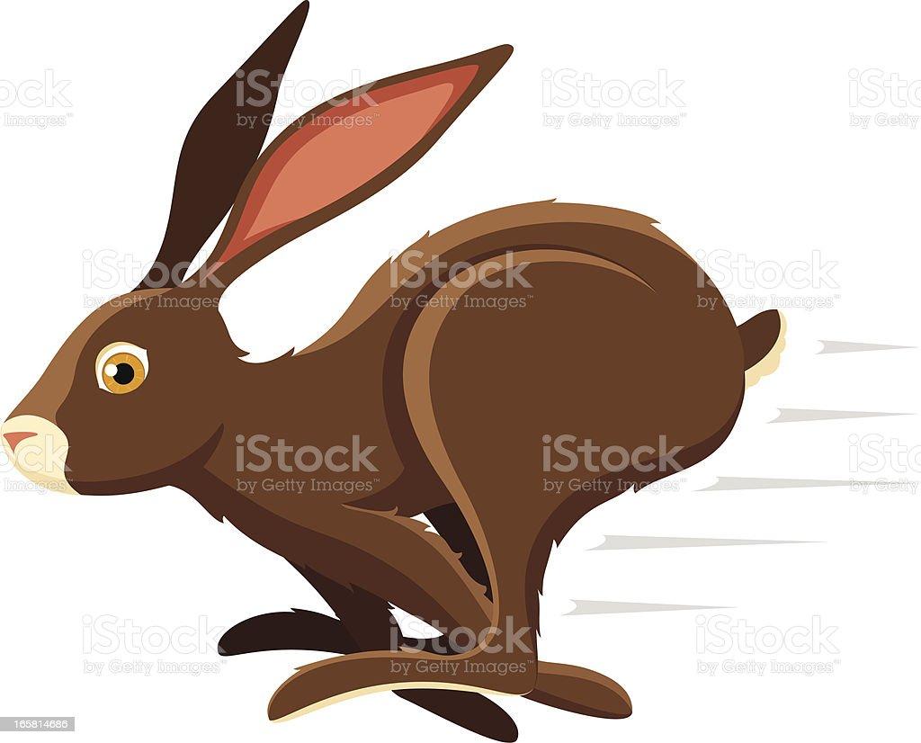 An illustration of a hopping bunny rabbit royalty-free stock vector art