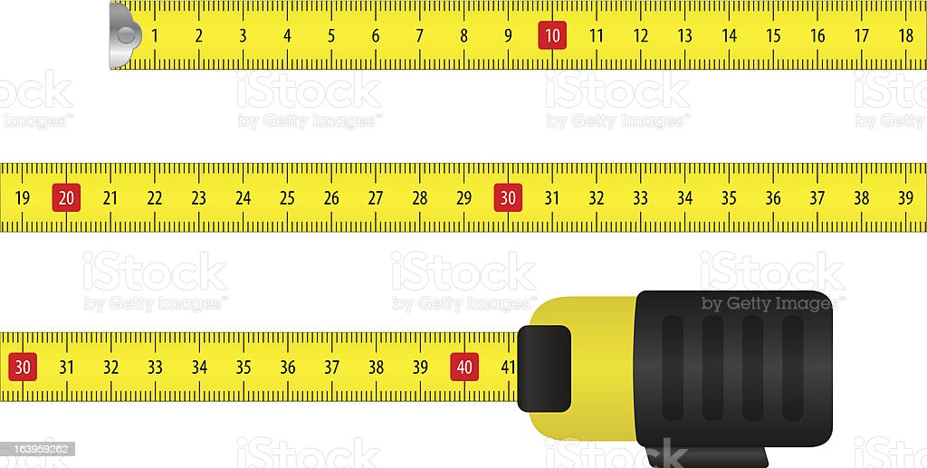 An Illustration Of A Tape Measure Using Metric Measuring ...