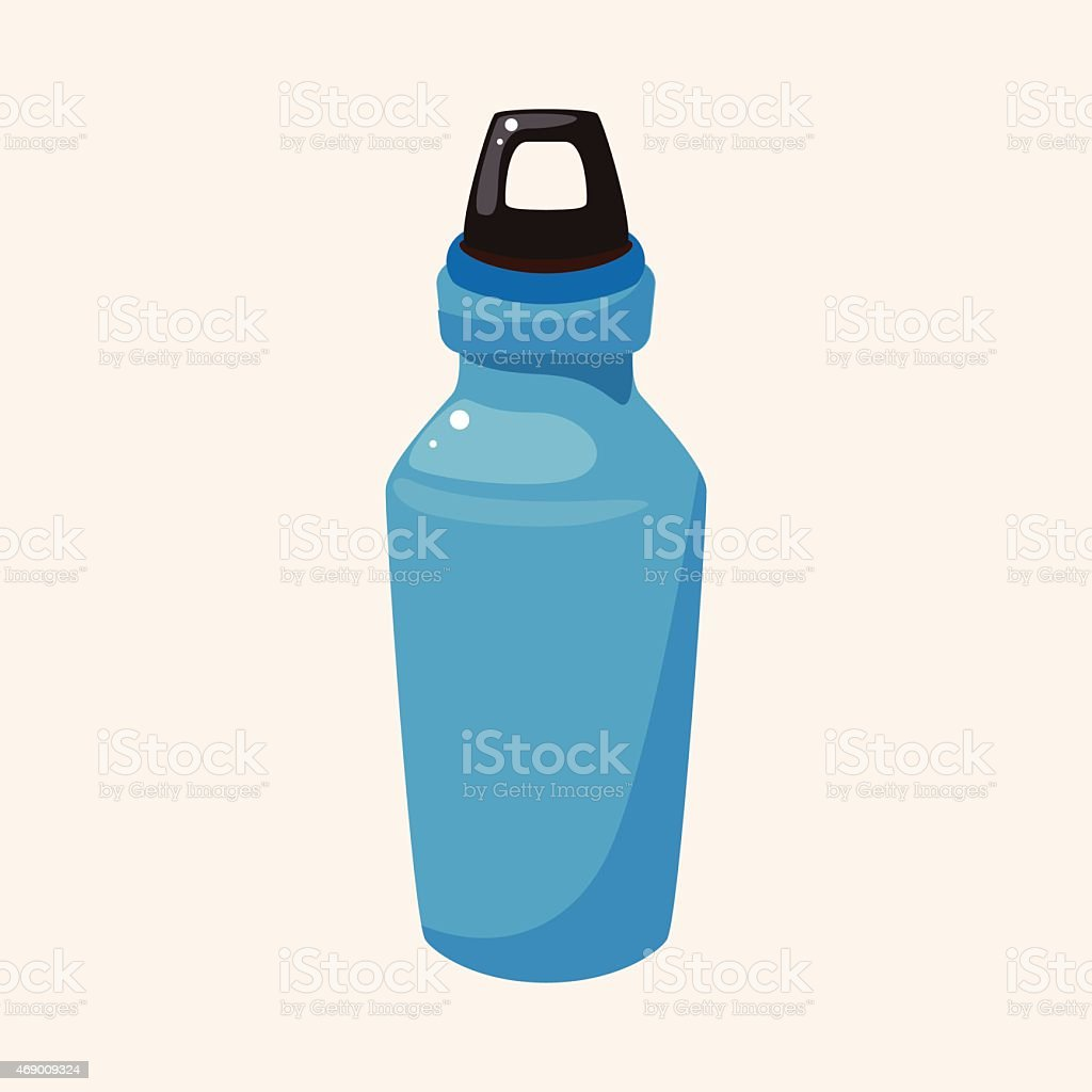 An illustration of a water bottle vector art illustration