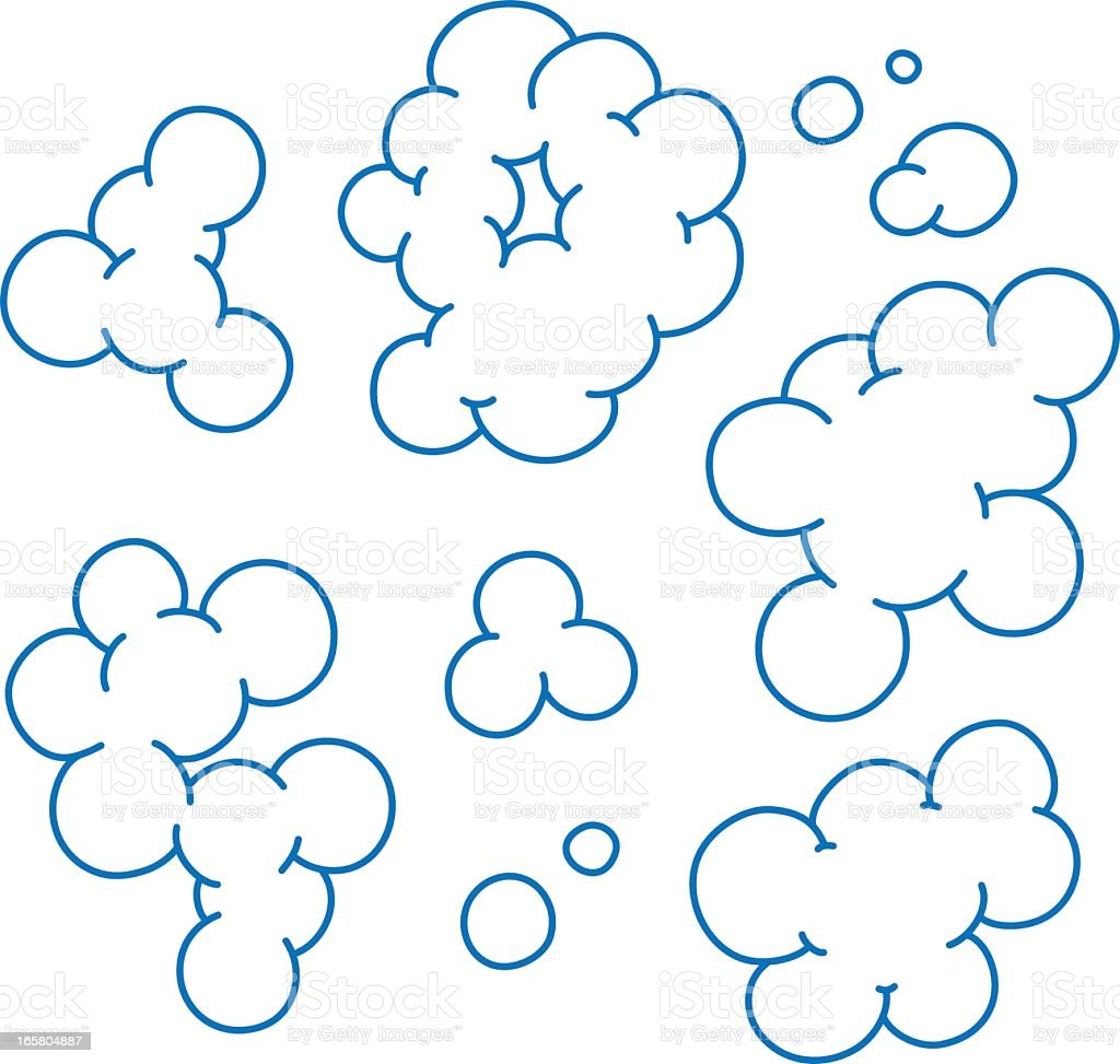 An illustration of bubbles on a white background royalty-free stock vector art