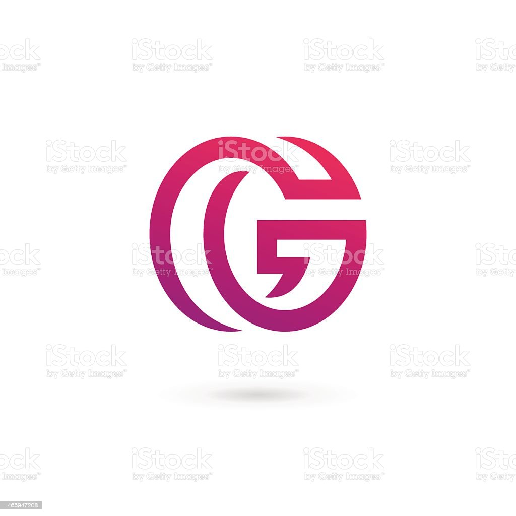An illustration of letter G icon on a white background vector art illustration
