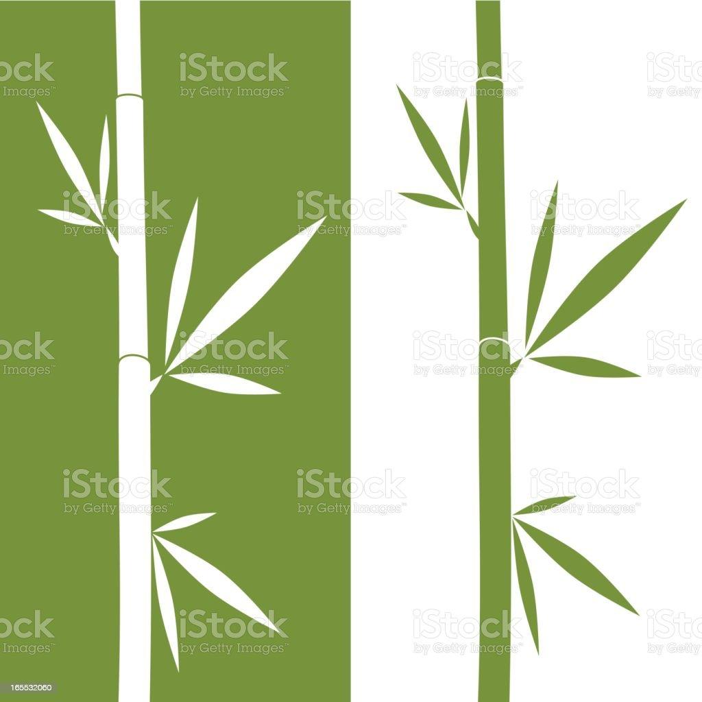 An illustration of mirrored bamboo vector art illustration