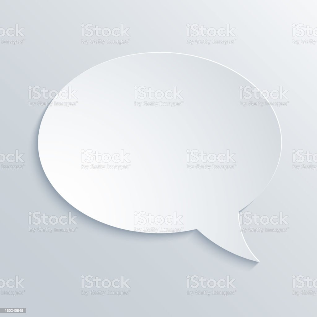 An illustration of paper speech bubble  royalty-free stock vector art