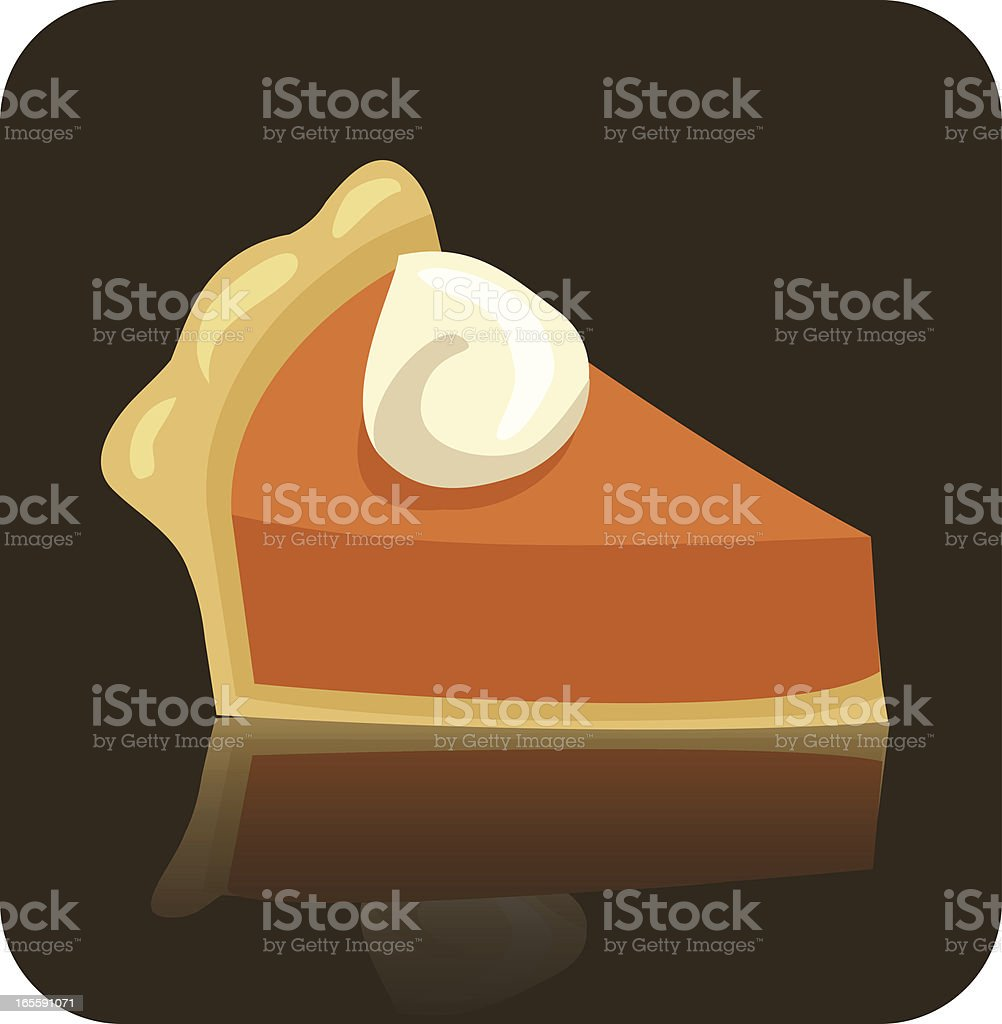An illustration of pumpkin pie with cream royalty-free stock vector art