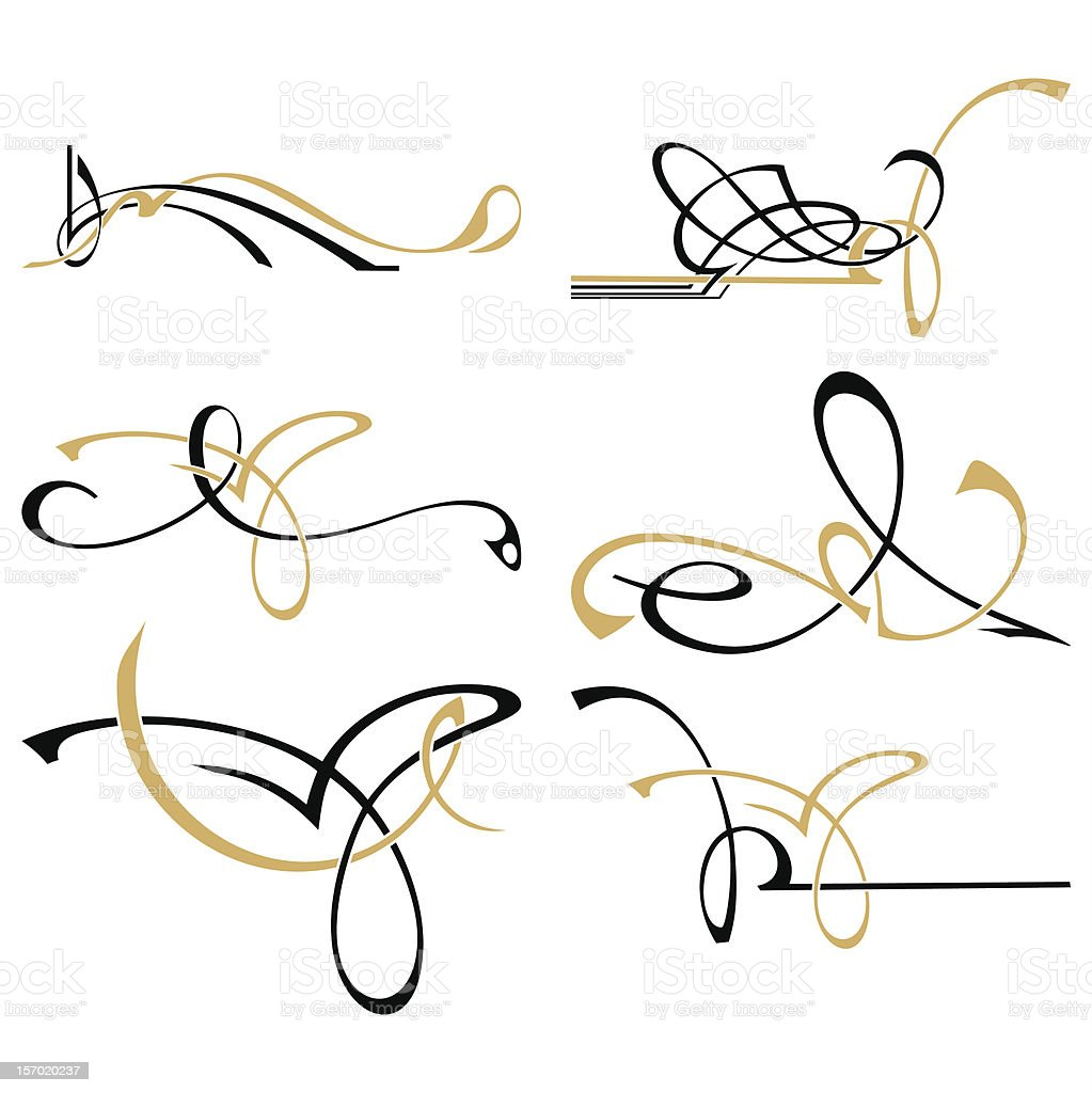 An illustration of two colored lines element design royalty-free stock vector art