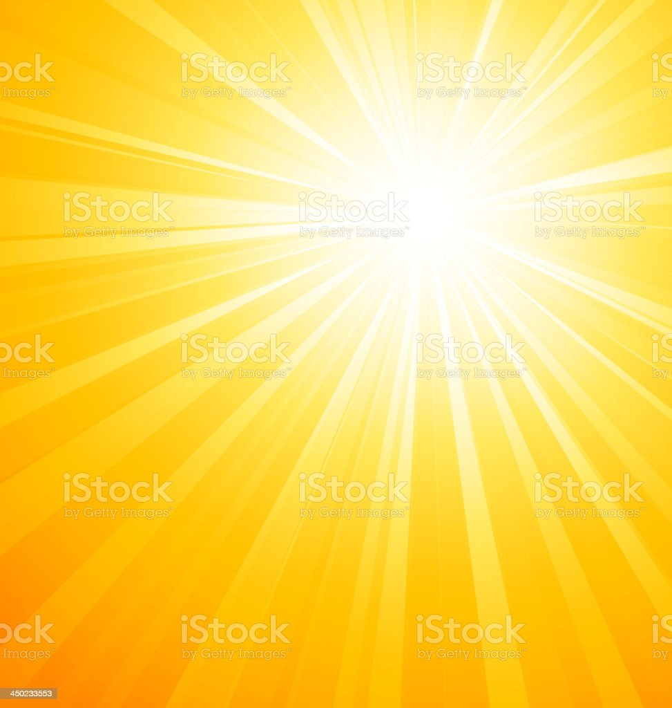 An image of a sun gleaming down vector art illustration