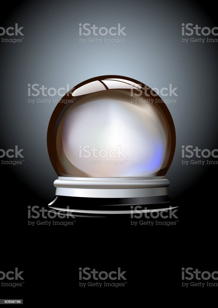 An isolated crystal ball on black royalty-free stock vector art