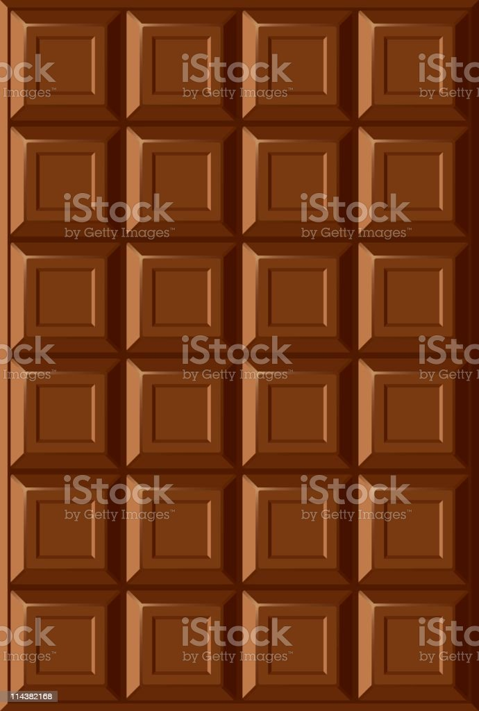 An open package of chocolate bar vector art illustration