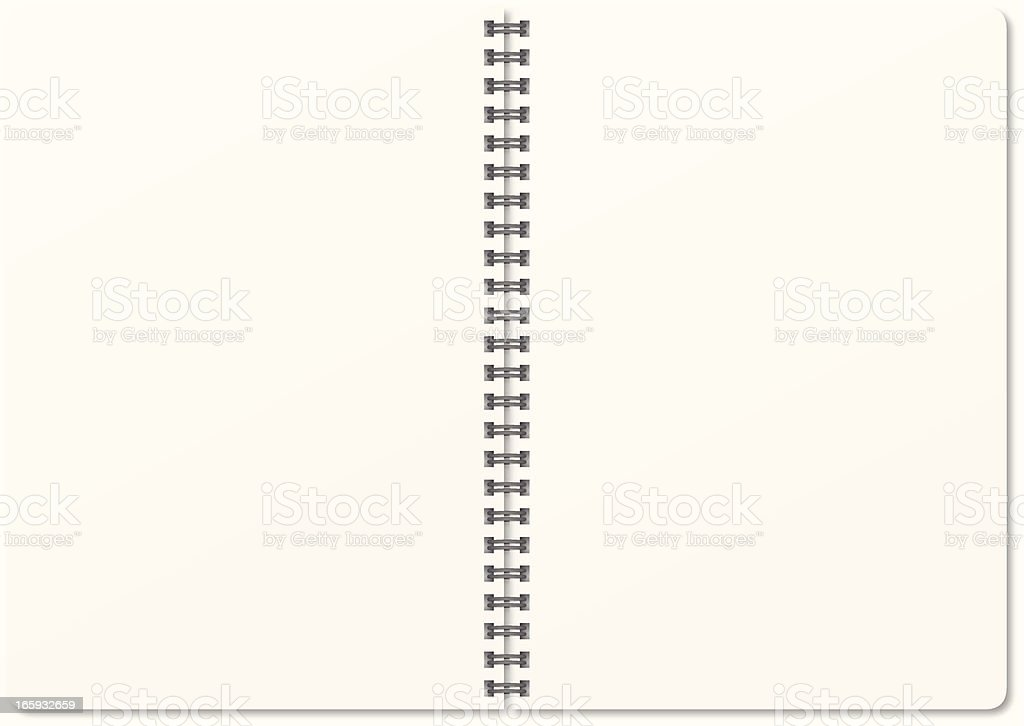 An opened notebook that is blank  royalty-free stock vector art