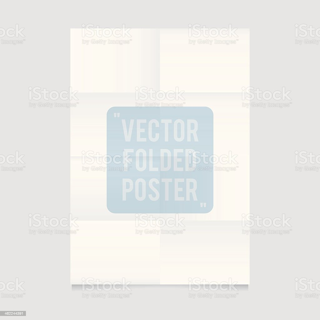 An unfolded piece of white paper  vector art illustration