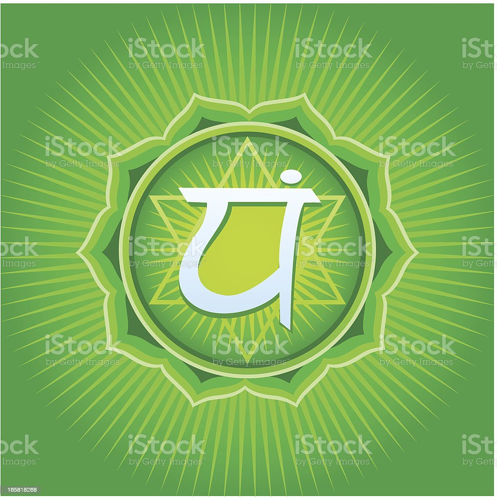 Anahata Chakra royalty-free stock vector art