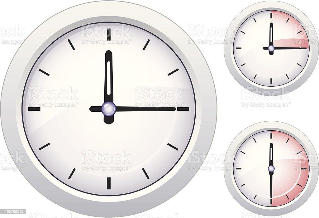 Analog clock showing highlights - VECTOR vector art illustration