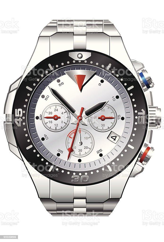 Analog wrist watch royalty-free stock vector art