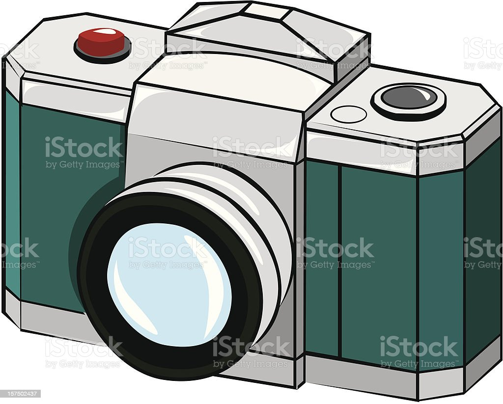 Analogic camera vector art illustration