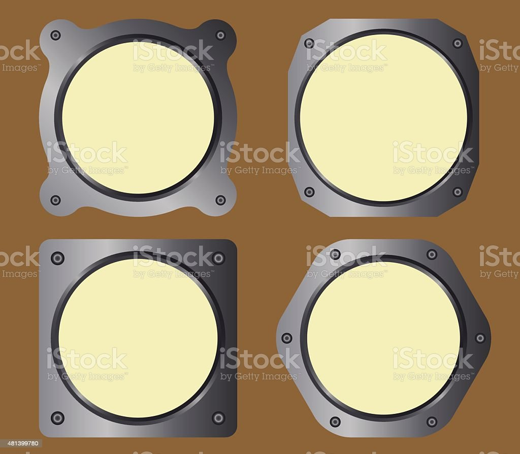 Analogic instruments frame vector art illustration