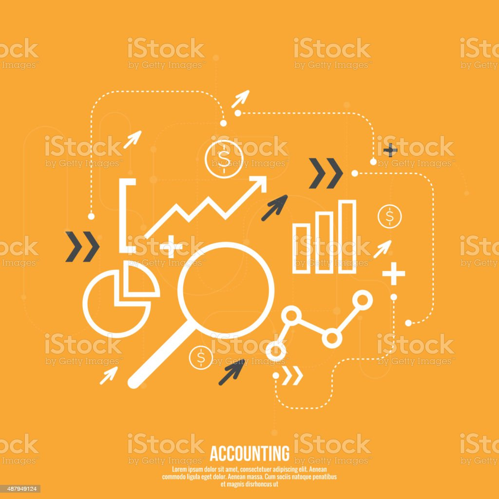Analysis and Financial Management vector art illustration
