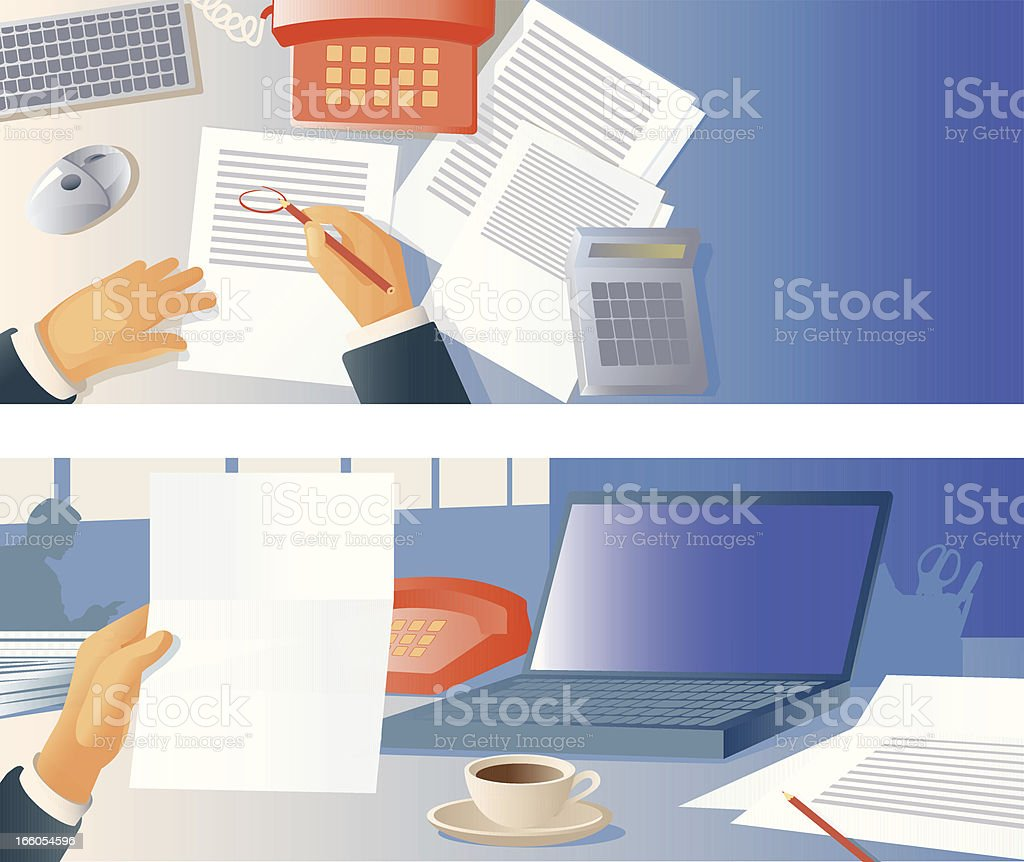 Analysis and selection royalty-free stock vector art