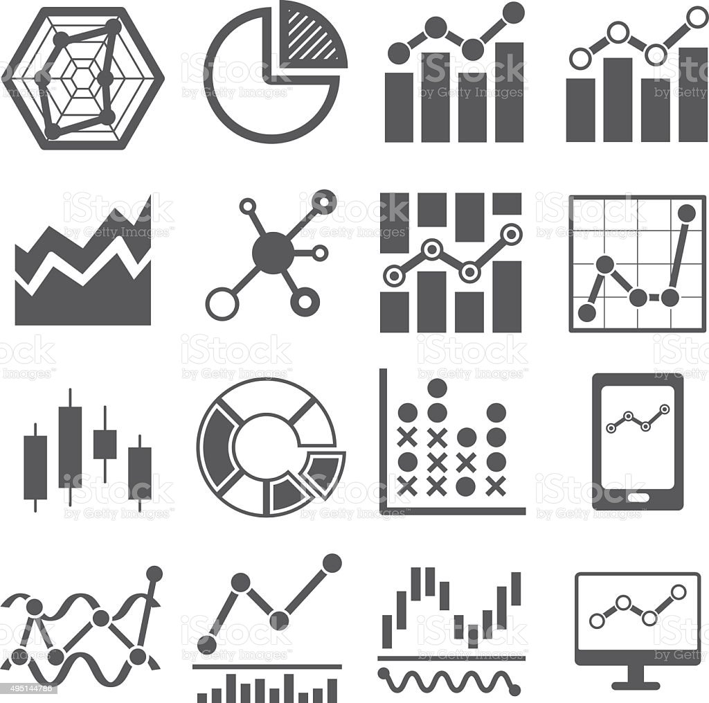 analysis icon . data chart graph vector art illustration
