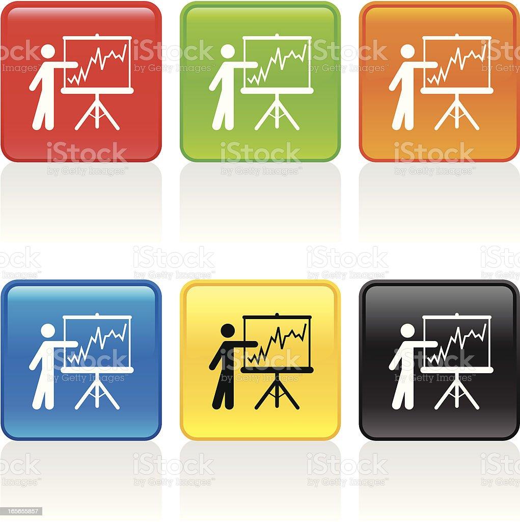 Analytics Icon vector art illustration