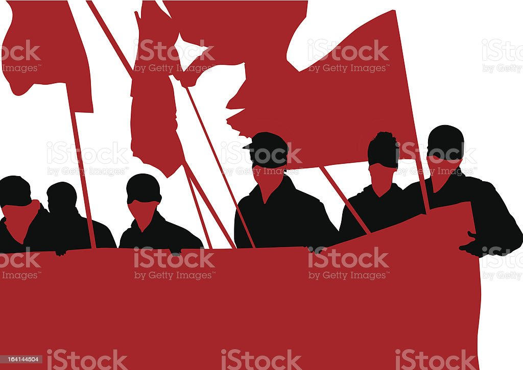 Anarchist people royalty-free stock vector art
