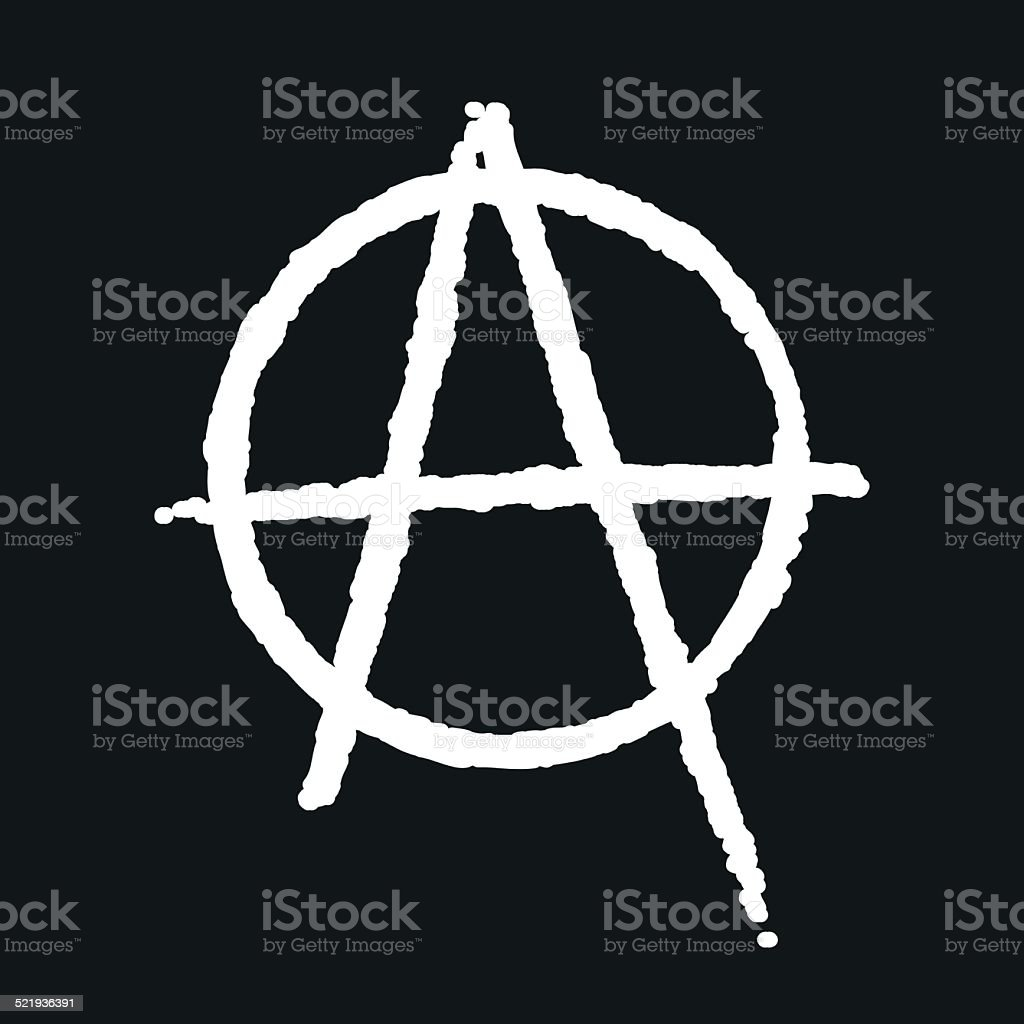 Anarchy icon vector art illustration
