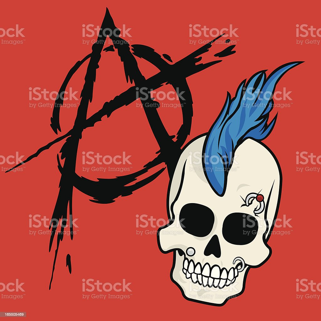 Anarchy Skull royalty-free stock vector art