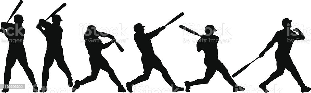 Anatomy of a Home Run royalty-free stock vector art
