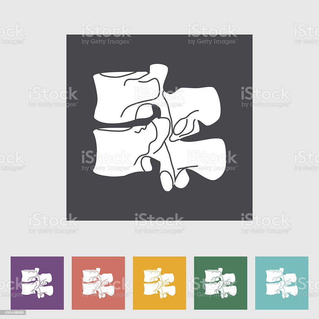 Anatomy spine flat icon. vector art illustration