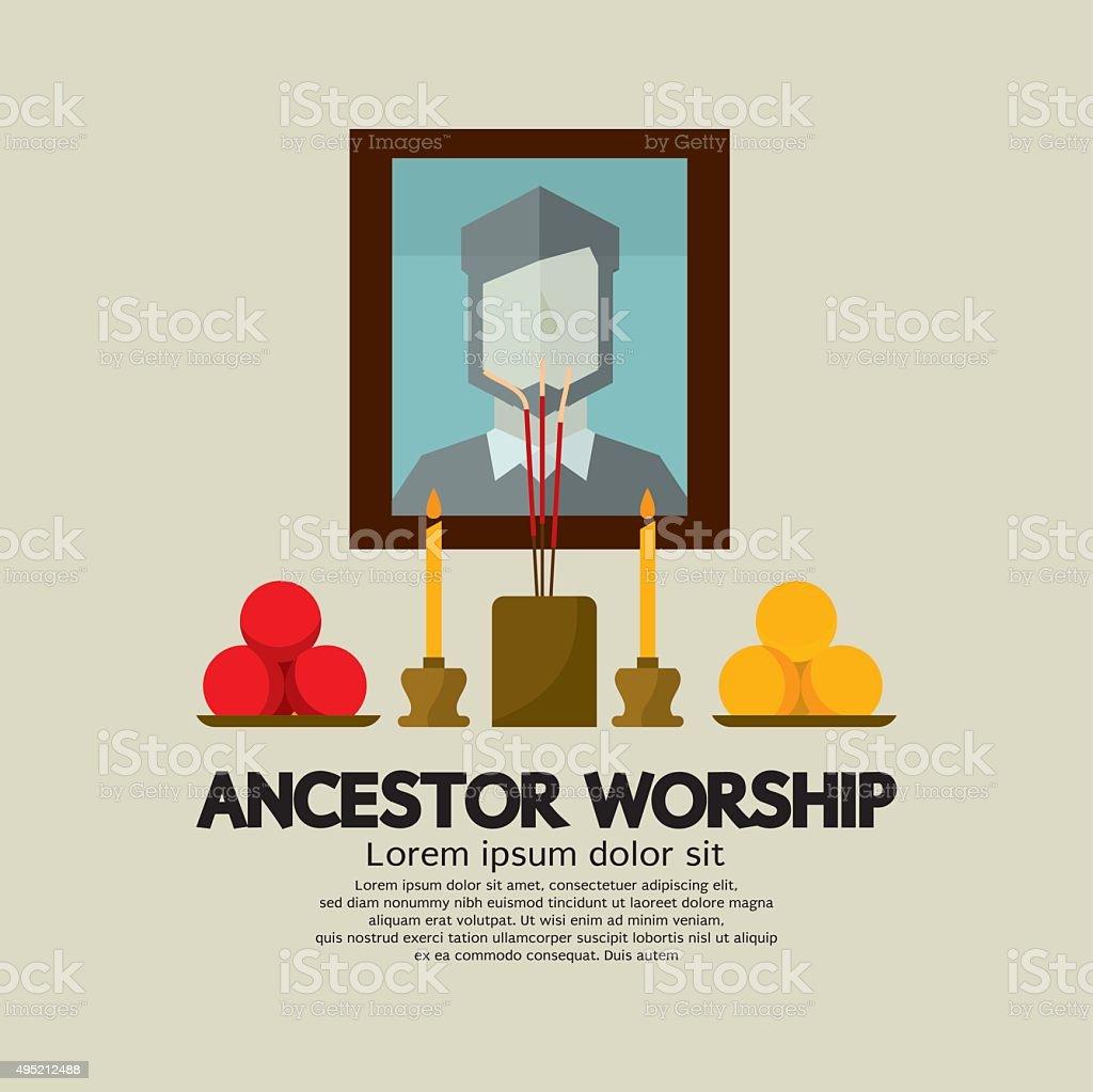 Ancestor Worship. vector art illustration
